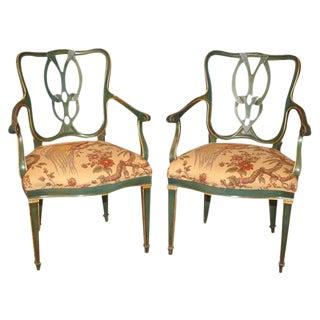 Italian Mid Century Armchairs - A Pair