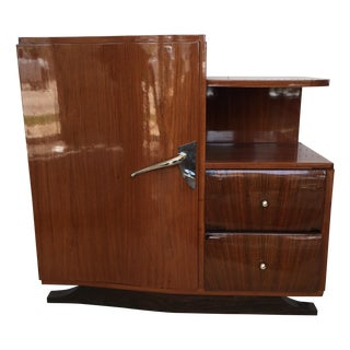 French Art Deco Style Rosewood Cabinet