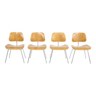 Set of Charles and Ray Eames Dcm Chairs