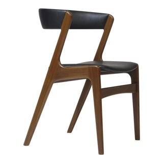 Customizable Danish Walnut Curved Back Dining Chairs