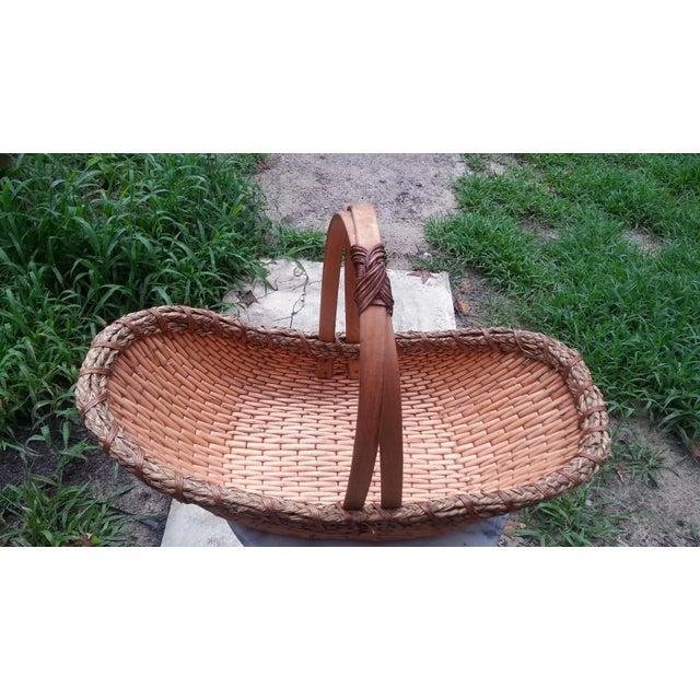 Vintage Rattan Gathering Basket - Image 2 of 5