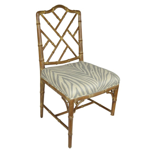 Faux-Bamboo Dining Chairs - Set of 6 - Image 3 of 7