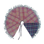 Image of Handwoven Vintage Madras Christmas Tree Skirt