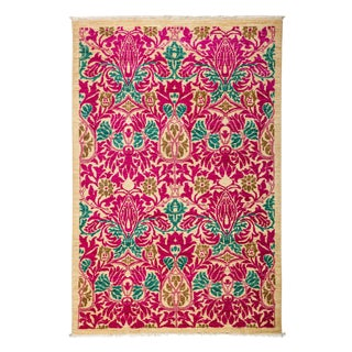 """Arts & Crafts, Hand Knotted Area Rug - 4'1"""" X 6'"""