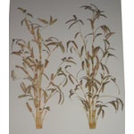 Image of Italian Bamboo Wall Sculptures - A Pair