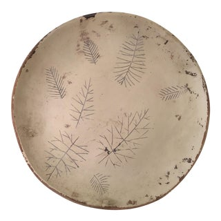 Sascha Brastoff Artist's Collection Un-fired Modernist Snowflake Plate