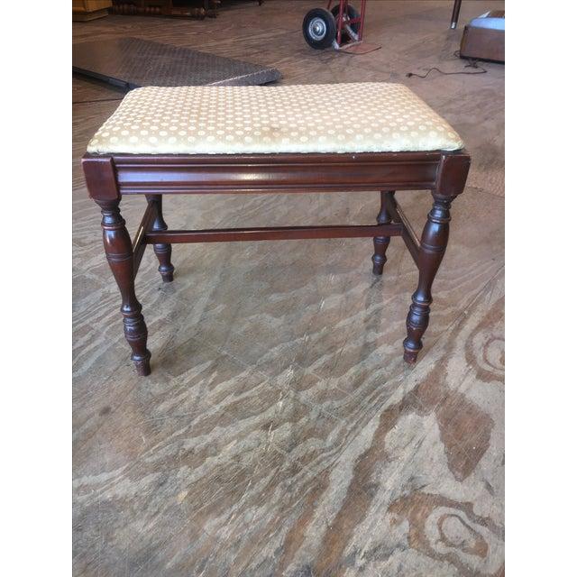 Antique Bedroom Vanity Bench - Image 4 of 9