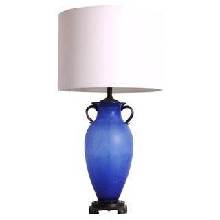 Italian Scavo Glass Lamp