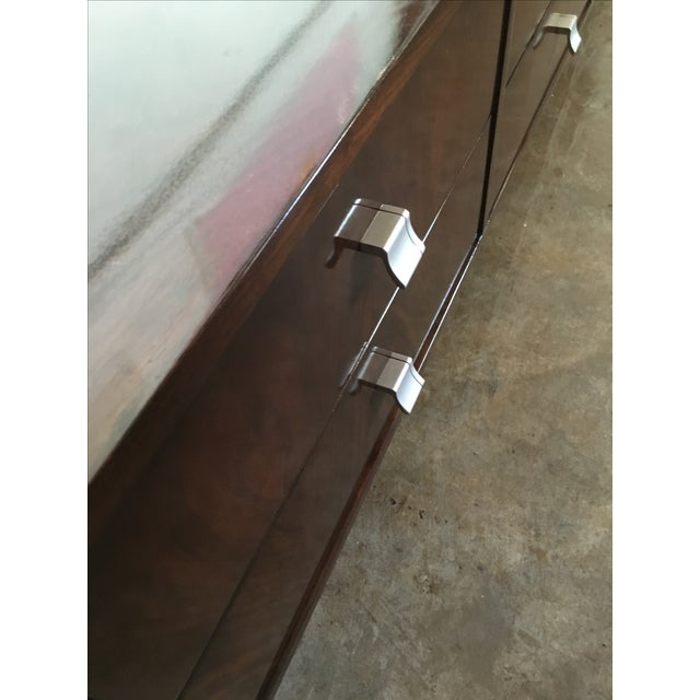 Mid Century Modern Argentine Manner of Jean Michel Frank by Comte Walnut Low Sideboard / Credenza - Image 10 of 10