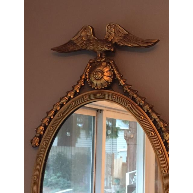 Federal Style Oval Mirror - Image 4 of 7