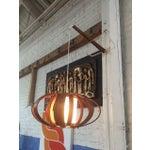 Image of Vintage Bent Wood Wall Mounted Lamp