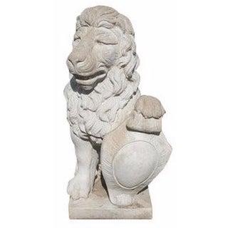 Vintage Cement Lion Statue