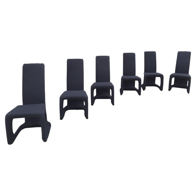 Italian Modern Dining Chairs - Set of 6 - Image 1 of 10