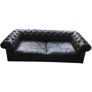 Restoration Hardware Kensington Leather Sofa
