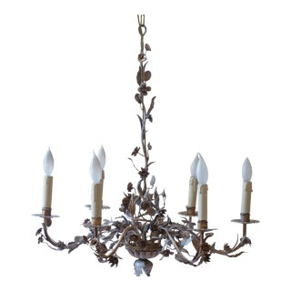Italian Iron Floral Chandelier