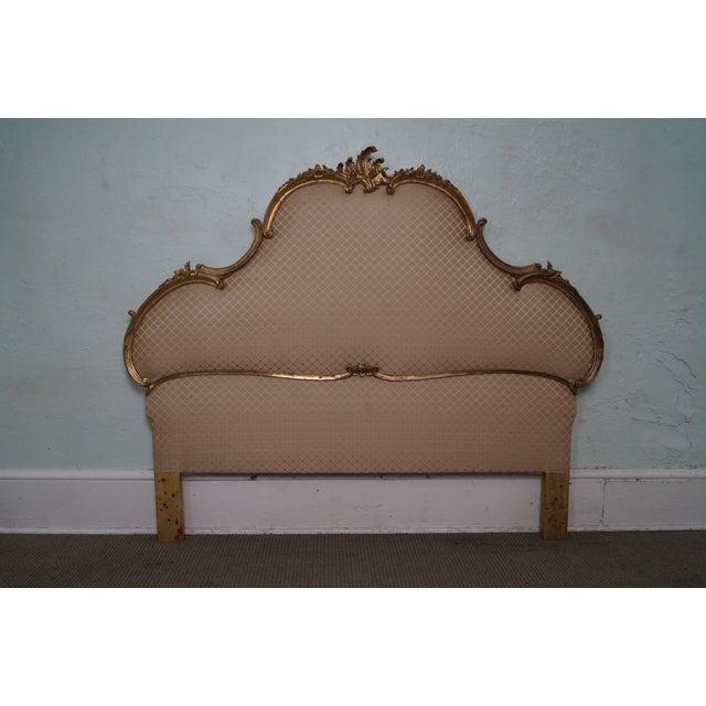 Image of Vintage Italian Gilt Wood Rococo Queen Headboard