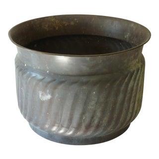 Patinated Copper Cache Pot