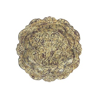 Fleur des Lis Gold Leaf Decorative Plate