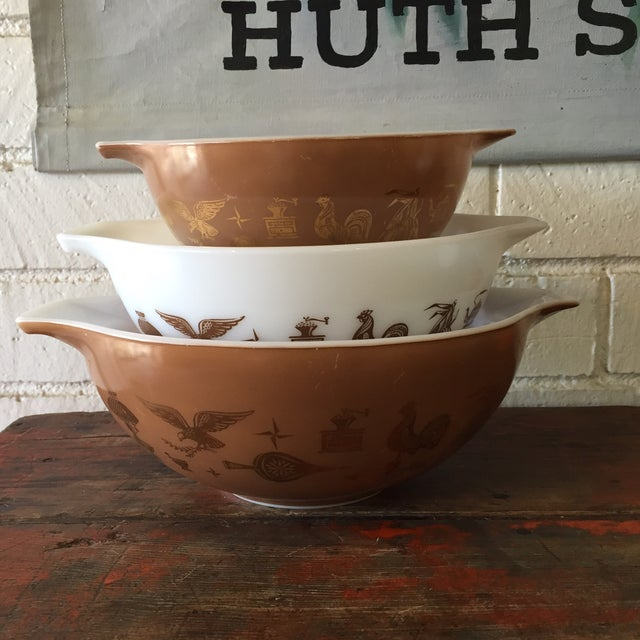 Pyrex Early American Mixing Bowls - Set of 3 - Image 2 of 8