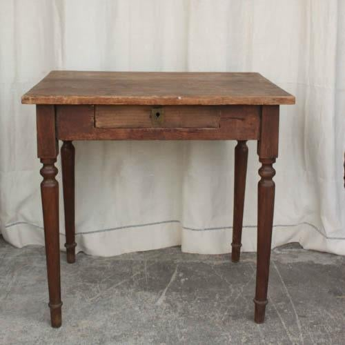 Wooden Spindle Table ~ Vintage french spindle leg wooden side table chairish