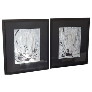 """Lotus Diptych"" Painting by ArtSeya - Pair"