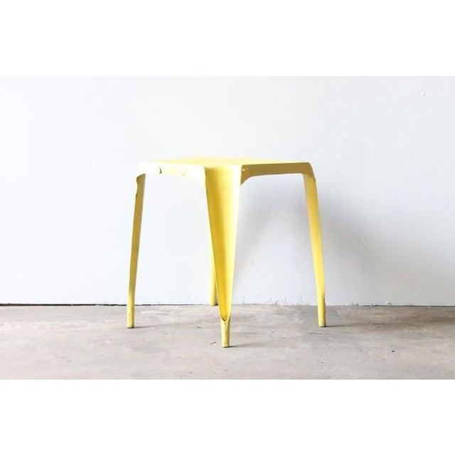 Yellow Metal Side Table - Image 2 of 4