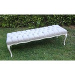 Image of  French Tufted Linen Bench