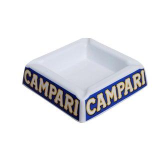 Campari Square Ceramic Italian Ashtray