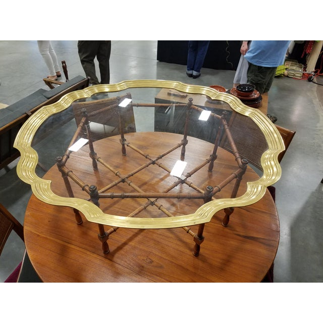 Baker Furniture Pie Crust Coffee Table - Image 2 of 6
