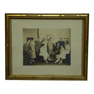 "Vintage ""Family Gathering"" Framed Black & White Photograph"