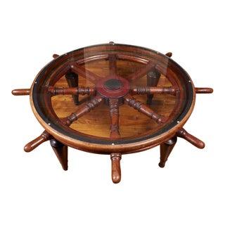 Antique Victorian Ship's Wheel Coffee Table