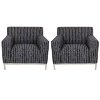 Pair of French Knoll Style Club Chairs