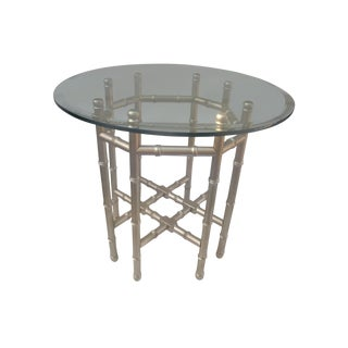Hollywood Regency Gilded Side Table