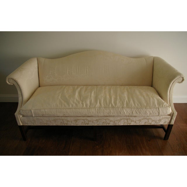 Vintage Hickory Chair Chippendale White Sofa - Image 5 of 8