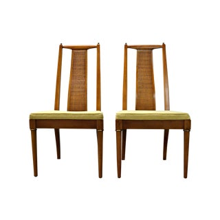 1960s Wicker-Back Chairs - A Pair