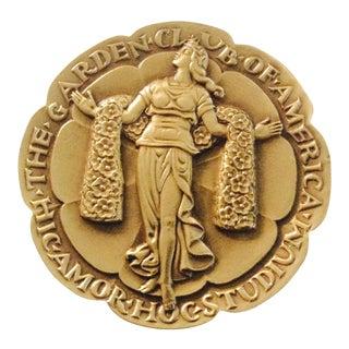 Commemorative Garden Club Bronze Medallion