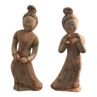 Chinese Terracotta Statues - A Pair