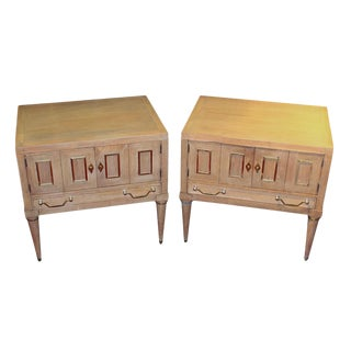 Pair of Mid-Century Bleached Side Tables