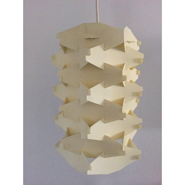 Vintage 1970s Geometric Pendant Light - Image 2 of 4