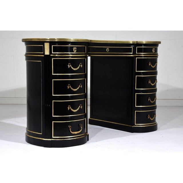 Antique French Regency-style Kidney Desk - Image 5 of 10