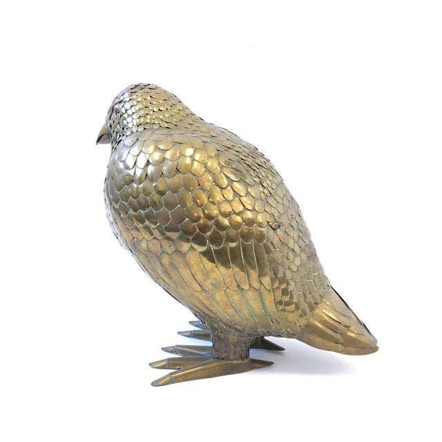 Large Brass Bird Sculpture by Sergio Bustamante - Image 7 of 8