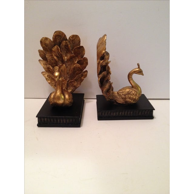 Peacock Bookends Pair Chairish