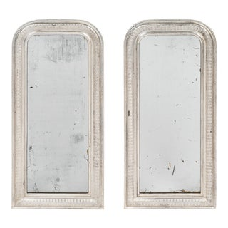 Pair of Louis Philippe Silver Leafed Mirrors