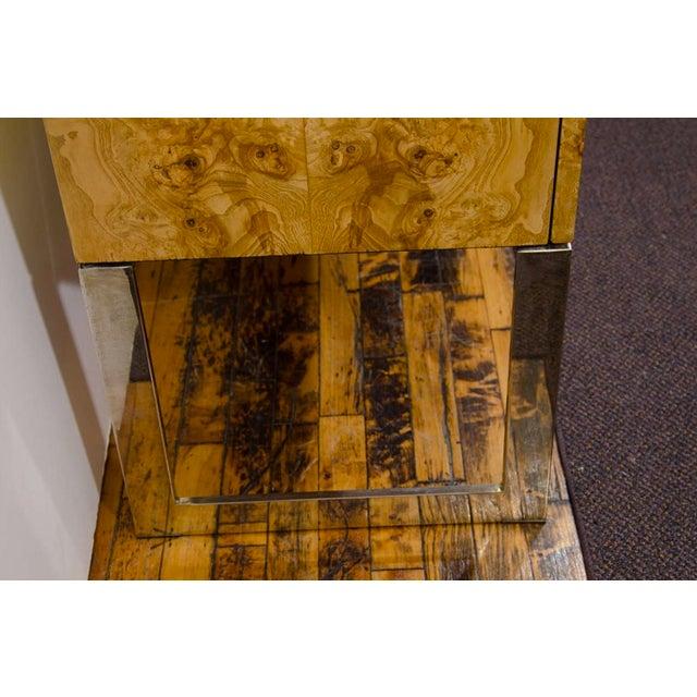 Mid-Century Milo Baughman Burled Wood Credenza - Image 5 of 8