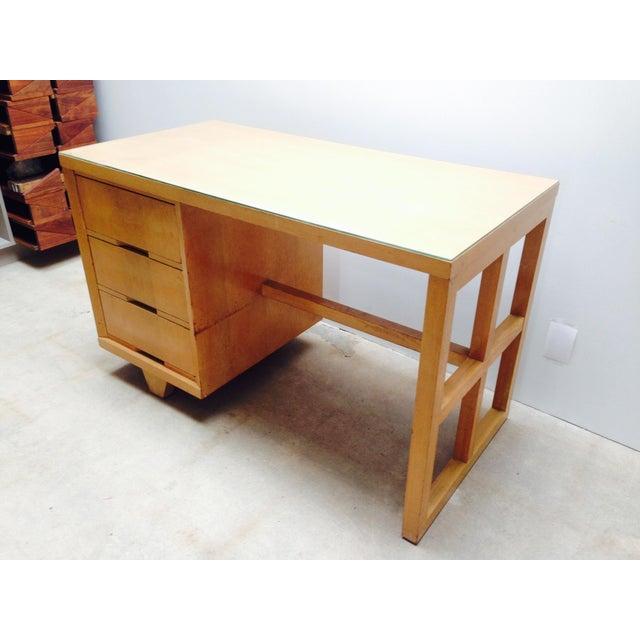 Mid Century Desk in Blonde Oak Finish - Image 2 of 7