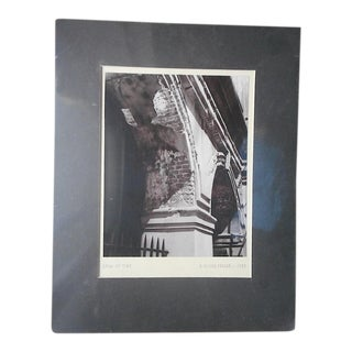 "Mid 20th C. Signed Fine Art Photograph-""Span of Time""-J. Oliver Yeakle"