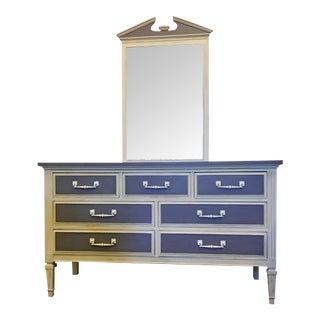 7-Drawer Wood Dresser & Mirror