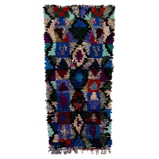 "Boucherouite Moroccan Carpet - 5'8""x2'9"""