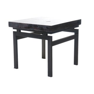 Square Petrified Wood Top Side Table II