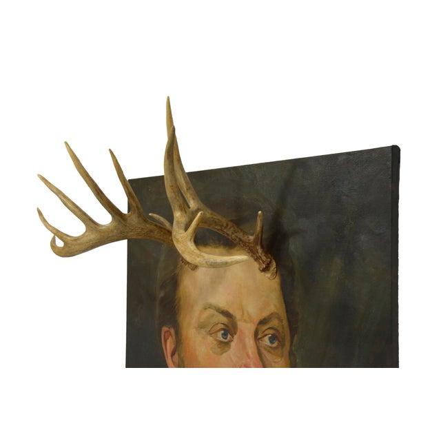 Altered Original Oil Portrait Painting - Image 3 of 6